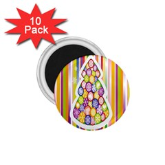 Christmas Tree Colorful 1.75  Magnets (10 pack)