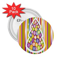 Christmas Tree Colorful 2.25  Buttons (10 pack)