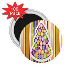 Christmas Tree Colorful 2 25  Magnets (100 Pack)