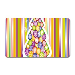 Christmas Tree Colorful Magnet (Rectangular)