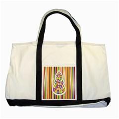 Christmas Tree Colorful Two Tone Tote Bag