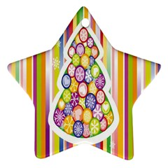 Christmas Tree Colorful Star Ornament (Two Sides)