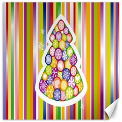 Christmas Tree Colorful Canvas 12  x 12