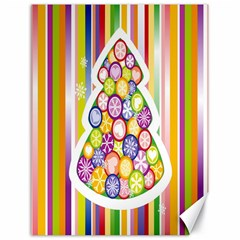 Christmas Tree Colorful Canvas 18  x 24