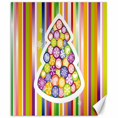 Christmas Tree Colorful Canvas 20  x 24