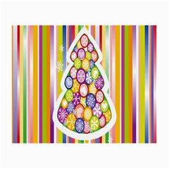 Christmas Tree Colorful Small Glasses Cloth (2-Side)