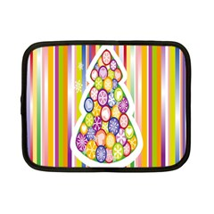 Christmas Tree Colorful Netbook Case (Small)