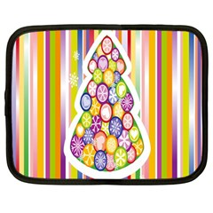 Christmas Tree Colorful Netbook Case (large)