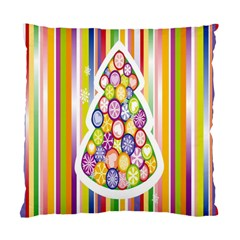 Christmas Tree Colorful Standard Cushion Case (Two Sides)