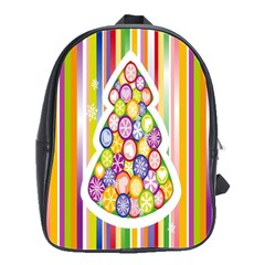 Christmas Tree Colorful School Bags(Large)