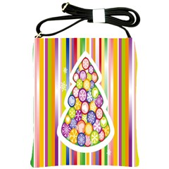 Christmas Tree Colorful Shoulder Sling Bags