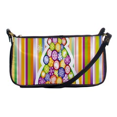 Christmas Tree Colorful Shoulder Clutch Bags