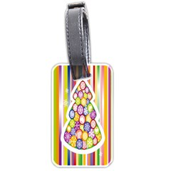 Christmas Tree Colorful Luggage Tags (Two Sides)