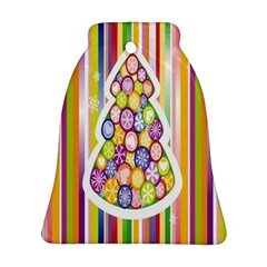 Christmas Tree Colorful Bell Ornament (Two Sides)