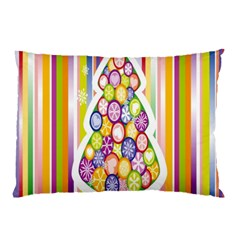 Christmas Tree Colorful Pillow Case (Two Sides)