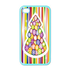Christmas Tree Colorful Apple iPhone 4 Case (Color)