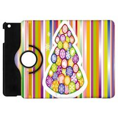 Christmas Tree Colorful Apple Ipad Mini Flip 360 Case