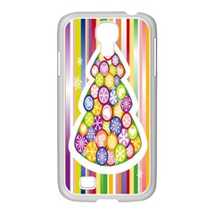 Christmas Tree Colorful Samsung Galaxy S4 I9500/ I9505 Case (white)