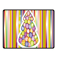Christmas Tree Colorful Double Sided Fleece Blanket (Small)