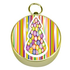 Christmas Tree Colorful Gold Compasses