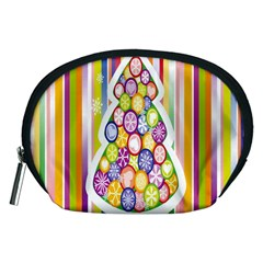 Christmas Tree Colorful Accessory Pouches (medium)