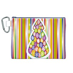 Christmas Tree Colorful Canvas Cosmetic Bag (xl)