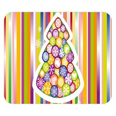 Christmas Tree Colorful Double Sided Flano Blanket (small)