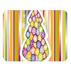 Christmas Tree Colorful Double Sided Flano Blanket (Large)