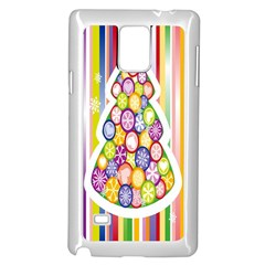 Christmas Tree Colorful Samsung Galaxy Note 4 Case (White)