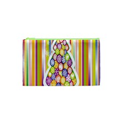 Christmas Tree Colorful Cosmetic Bag (xs)