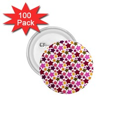 Christmas Star Pattern 1.75  Buttons (100 pack)