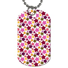 Christmas Star Pattern Dog Tag (Two Sides)