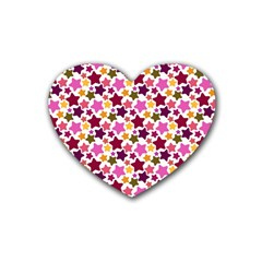 Christmas Star Pattern Rubber Coaster (Heart)