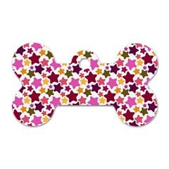 Christmas Star Pattern Dog Tag Bone (Two Sides)