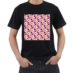 Christmas Star Pattern Men s T-Shirt (Black)