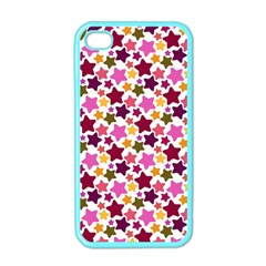 Christmas Star Pattern Apple iPhone 4 Case (Color)