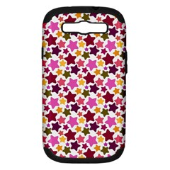 Christmas Star Pattern Samsung Galaxy S III Hardshell Case (PC+Silicone)