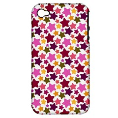 Christmas Star Pattern Apple iPhone 4/4S Hardshell Case (PC+Silicone)