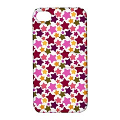 Christmas Star Pattern Apple Iphone 4/4s Hardshell Case With Stand