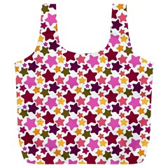 Christmas Star Pattern Full Print Recycle Bags (L)