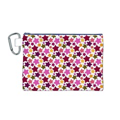 Christmas Star Pattern Canvas Cosmetic Bag (M)