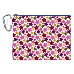Christmas Star Pattern Canvas Cosmetic Bag (XXL)