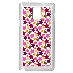 Christmas Star Pattern Samsung Galaxy Note 4 Case (White)