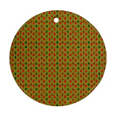 Christmas Trees Pattern Ornament (Round)