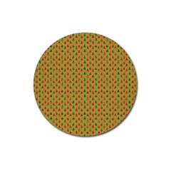 Christmas Trees Pattern Magnet 3  (Round)
