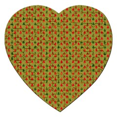 Christmas Trees Pattern Jigsaw Puzzle (Heart)