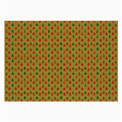 Christmas Trees Pattern Large Glasses Cloth
