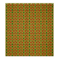 Christmas Trees Pattern Shower Curtain 66  x 72  (Large)