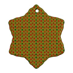 Christmas Trees Pattern Ornament (Snowflake)