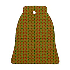 Christmas Trees Pattern Bell Ornament (Two Sides)
